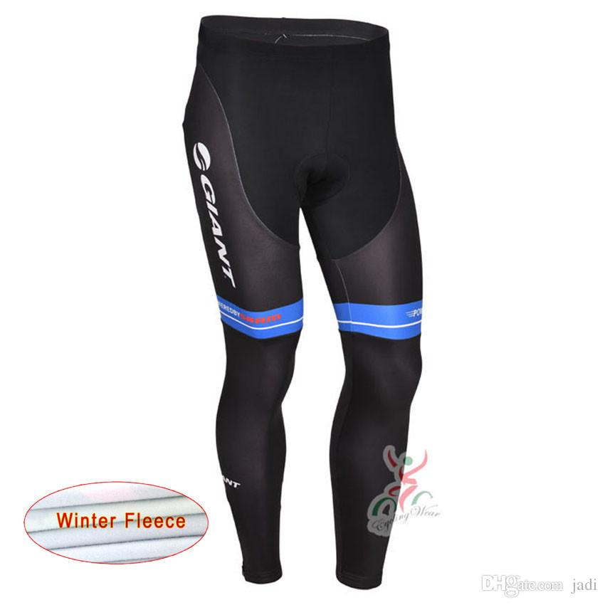 2017 Giant/Men Winter thermal Fleece cycling clothing long Pants Pro cycling bib long pants winter Bike clothes D1211