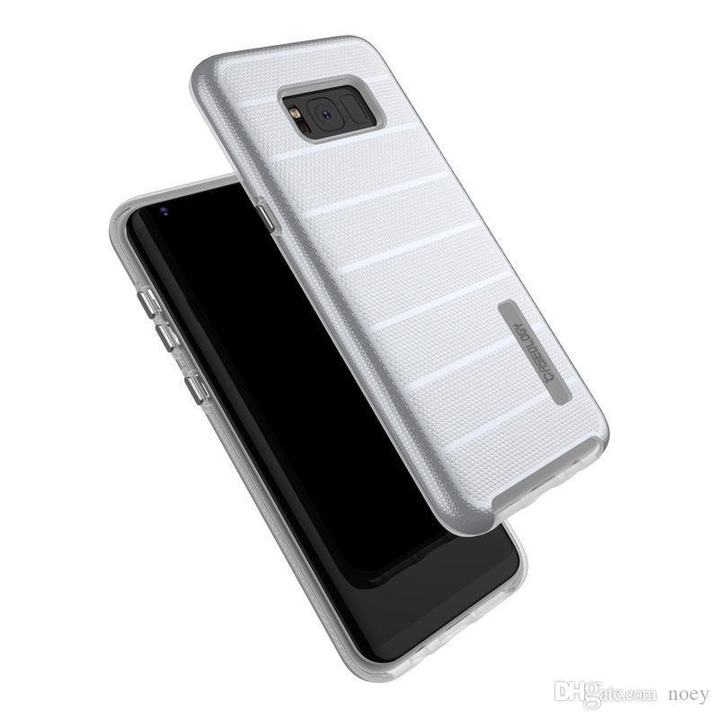 Custodia protettiva cellulare caseologia rigida ultra resistente a doppio strato con armatura ibrida Moto E6 Samsung Note 10 con confezione al dettaglio