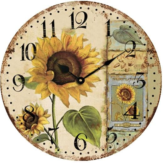 Wholesale Sunflower Retro Antique Clock Fashion Large Decorative ...