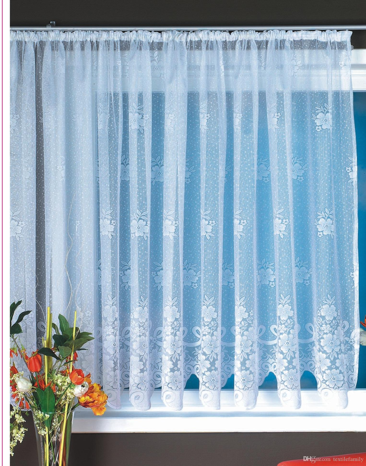 Sale Polyester Lace Big Window Curtains for Lace Bay