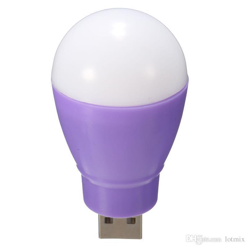 Protable Mini 5W USB LED Light Bulb 360 Degree Energy Saving Outdoor Emergency Lamp PC Laptop Computer Power Bank Reading Bulb
