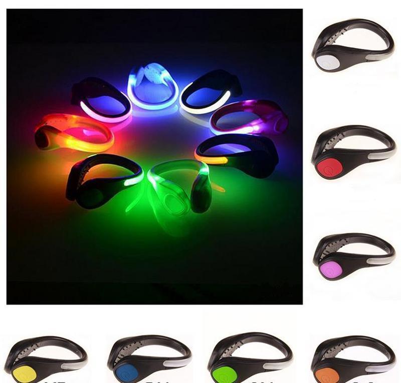 Nouveau Lumineux Chaussures Clip Night Lights Chaussure De Sécurité Fairy Light Sécurité Avertissement Avertissement Réflecteur Clignotant Lumière De Noël Pour La Couleur extérieure Led Lumières