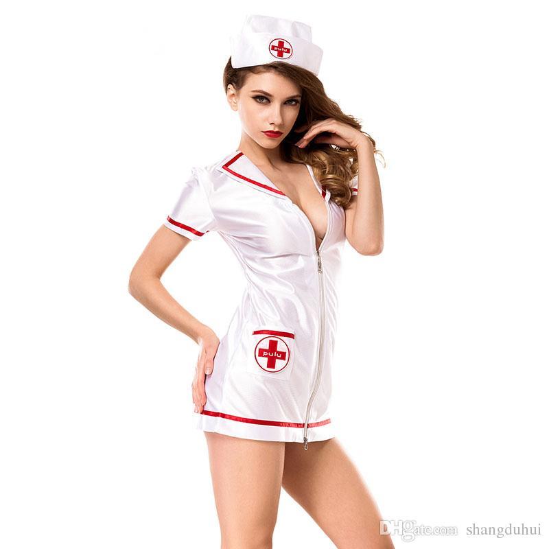 Had man Asian style nurse scrubs get sign
