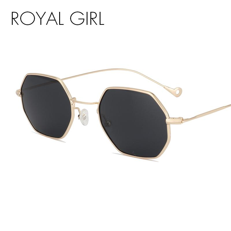 ROAYL GIRL Designer Occhiali da sole da donna Vintage Retro Metal Square 2017 New Ultra-light Small Frame Glasses ss131