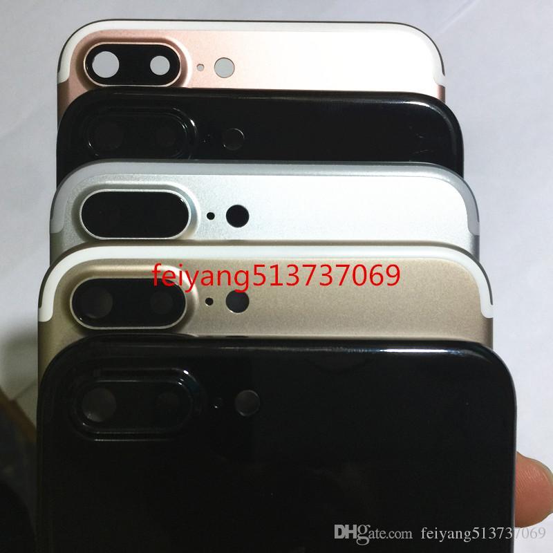 Bir kalite Tam Konut Arka Kapak Pil kapı Orta Çerçeve Metal iPhone 7 Için Yedek parça artı 5.5