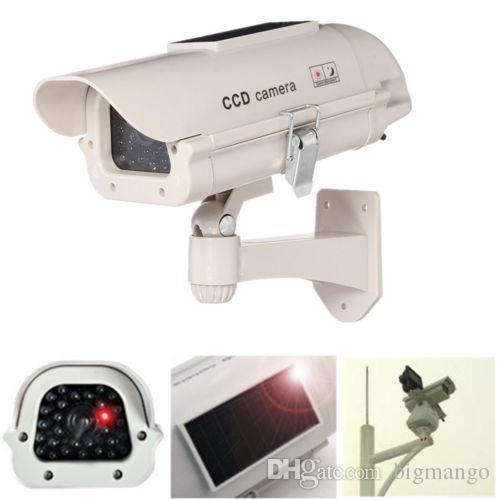 Solar Power Fake Dummy Simulation Camera CCTV Security Surveillance Flashing LED