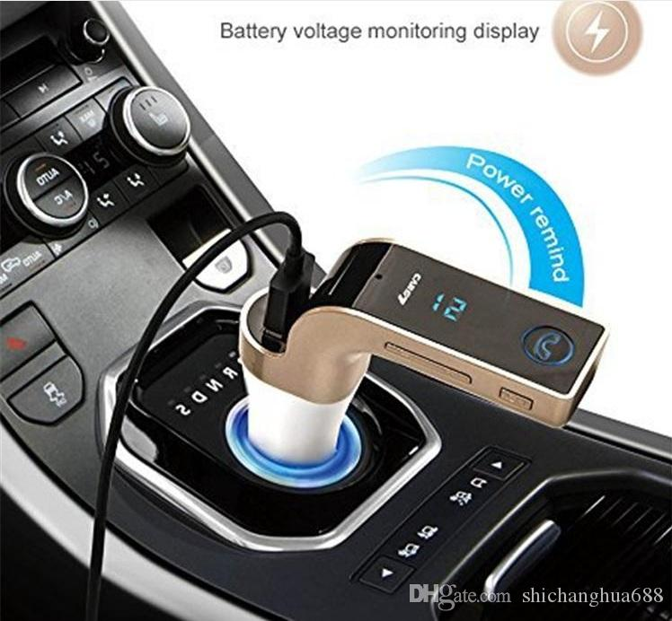 Multifunction 4-in-1 CAR G7 Bluetooth FM Transmitter with USB flash drives /TF Music Player ,Bluetooth Car kit USB Car charger