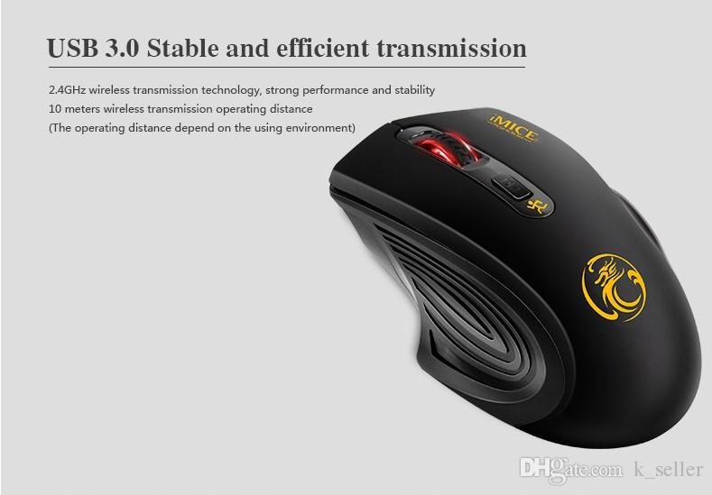 New Mini 2.4GHz Optical Wireless Mouse Receiver mouse Smart Sleep Energy-Saving Mice for Gaming Computer Tablet PC Laptop With Retail Box