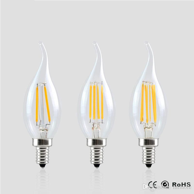 E14 Led Filament Dimmable Bulb Lamp 2w 4w 6w 220v 2 4 6leds Cob ...
