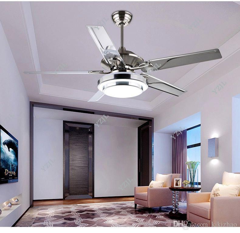 Großhandel Esszimmer Wohnzimmer Deckenventilator Lichter Led Europäischen  Modernen Einfachen Mode Cuntie Blatt Lüfter Lichter Mit Fernbedienung 48  Zoll Von ...