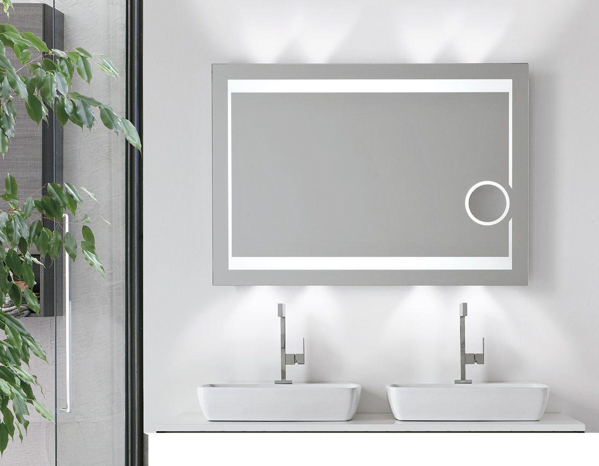 Ce Ul Wall Mounted Makeup Mirror With Led Light, Backlit Bathroom ...