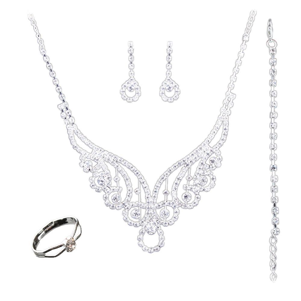 New Gorgeous Luxury Classic CZ Stone Vintage Necklace Earrings ...