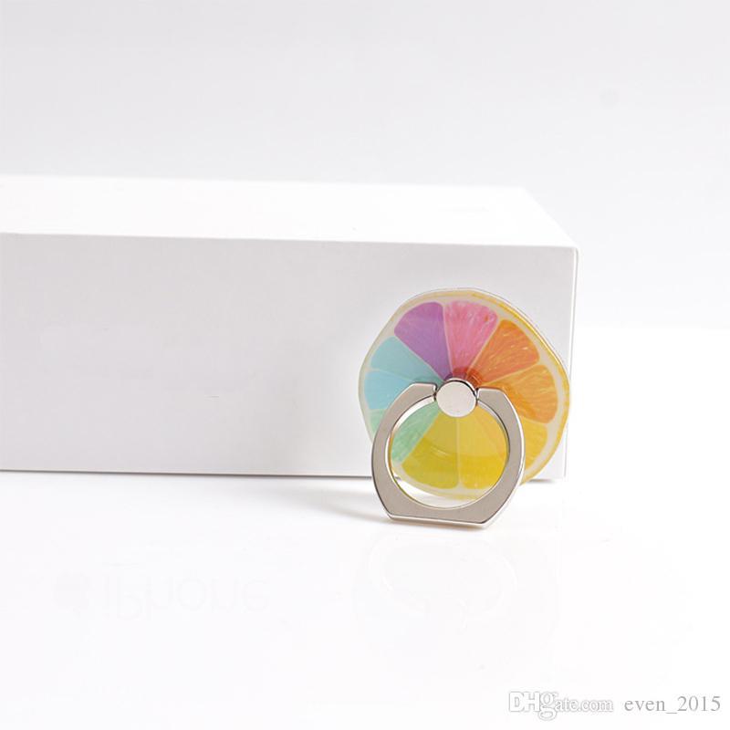 Sevimli Meyve Muz 360 Derece Parmak Yüzük Cep Telefonu Smartphone Karpuz iPhone 6 7 artı Paketi ile Standı Tutucu