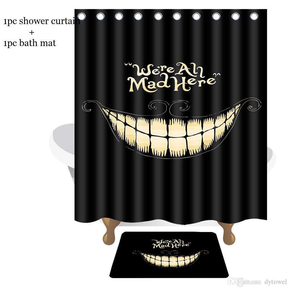 Grosshandel Kreative Badezimmer Set Lustige Lachen Mund Wir Sind Mad