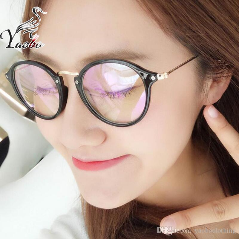 babc45d445 Yaobo Stylish Vintage Transparent Glasses Frame Eyewear For Myopia ...