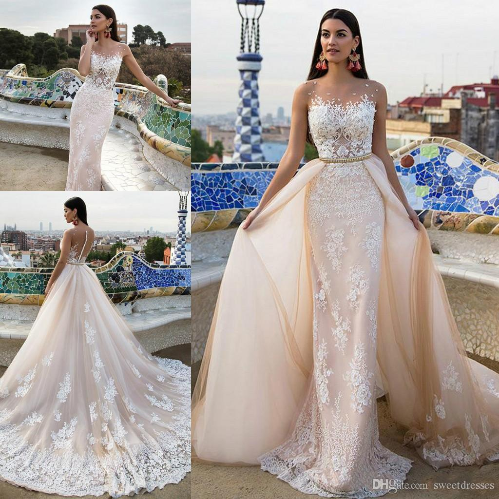 Discount Exquisite Beaded Sash 2018 Wedding Dresses With