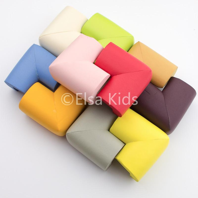 Wholesale- 10Pcs Baby Safe Corner Protector Soft Kids Table Desk eage cover solid Children Guards 10 colors