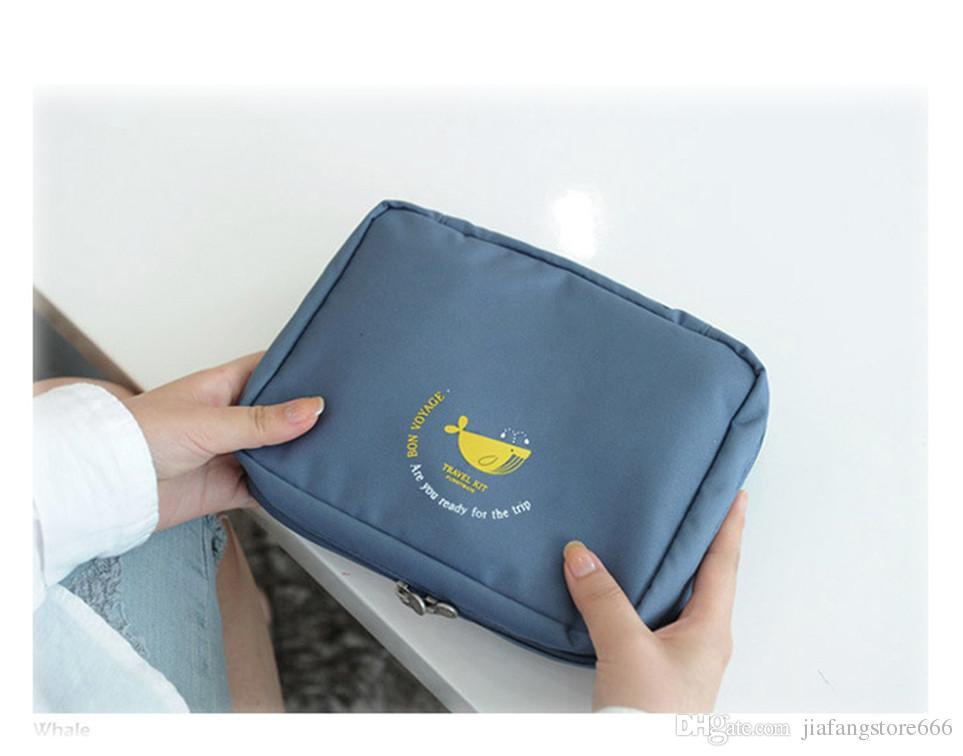 2017 Yeni Varış Asılı Seyahat Saklama Torbaları Polyester Taşınabilir Kozmetik Çantaları Yüksek Kalite Makyaj Çantaları Ücretsiz Nakliye