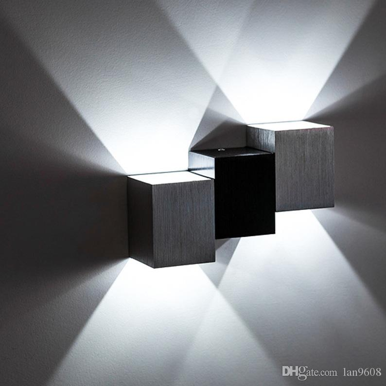 Led bedroom wall lamp indoor bedside creative hotel aisle ktv living room up and down light 2W multi-color choice