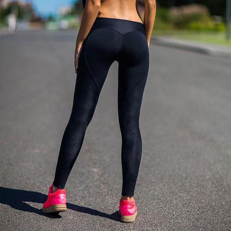 f5c418775f68e Compre Al Por Mayor Corazón Push Up Polainas Deportivas Leggins Pantalones De  Fitness Correr Medias Mujeres Niza Ropa Deportiva Jogging Deportes  Pantalones ...
