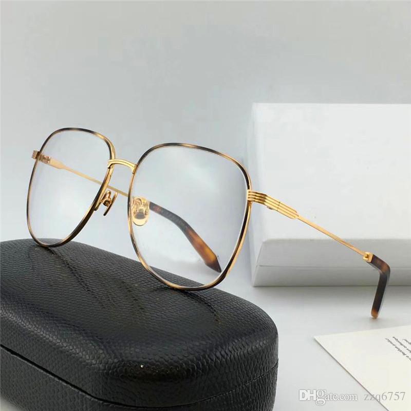watch a6c4d 1fb06 New fashion women designer occhiali da vista 218 montatura ovale in metallo  semplici montature avant-garde di alta qualità possono essere ...