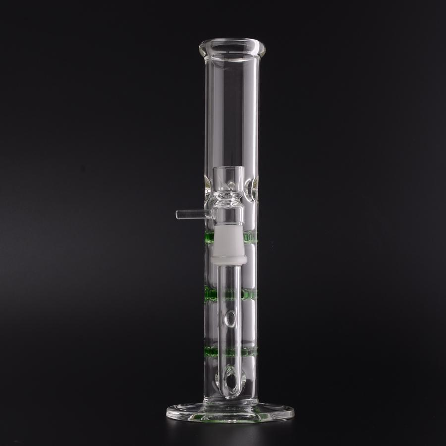 3 Green Honeycomb Perc Bong 38x260 Glass Water Pipes Percolator Bongs COMES WITH GLASS BOWL 18.8mm Joint Great Discount Price BestGlass M10