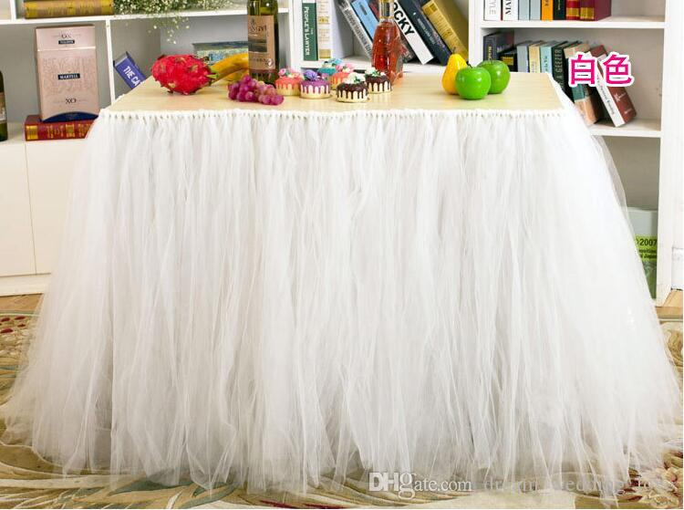 TUTU Table Skirt Tulle Tableware for Wedding Decor Birthday Baby Shower Party Tulle Table Skirt fast delivery WQ19