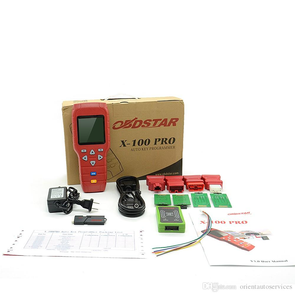 Original OBDSTAR X-100 x100 PRO Auto Key Programmer C+D+E including EEPROM adapter for IMMO+Odometer+OBD+EEPROM