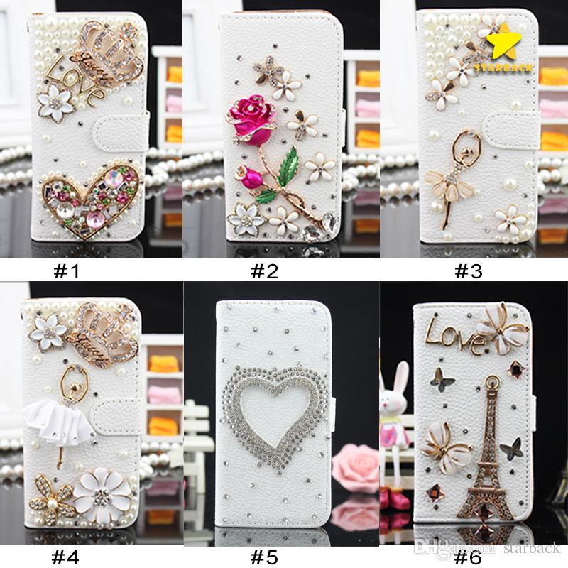 purchase cheap 8021f 809db For iPhone 8 Plus iPhone X Bling Csae Caver Case Crystal Leather Flip 3D  Rhinestone Diamond Stand Wallet Case