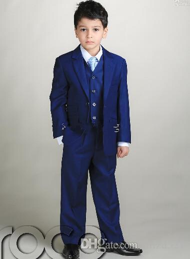 nach Maß Jungen Kinder Anzug Formale Zwei Knöpfe Gerade Taschen Hochzeit Anzug Smoking Jacke + Pants + Weste nach Maß