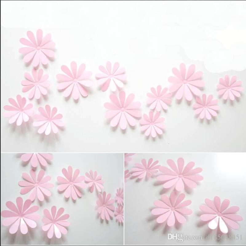 Stylish living room TV background wall stickers new petals creative 3D stereo removable wall stickers