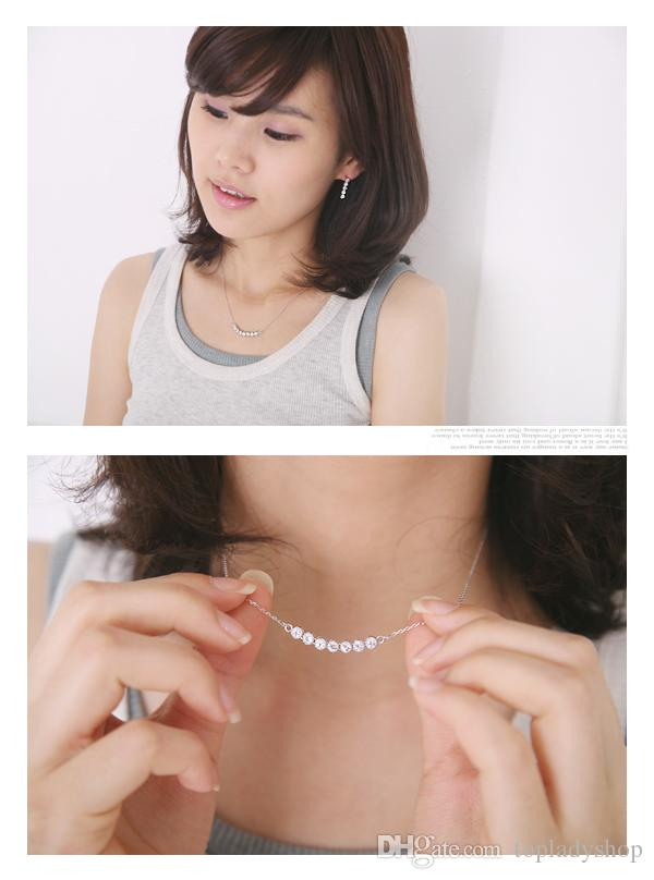 Very simple drilling in a row 7 seven Crystal diamonds a little bit of necklace look back at the stars Wholesale