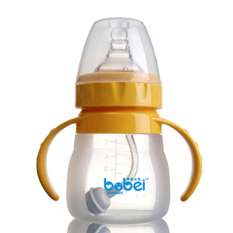 140ml Top Quality Silica Gel Baby Bottle Wide Mouth Mamadeira De Silicone Pipette Copo Com Canudo Baby Garrafa Arc Bebek Biberon