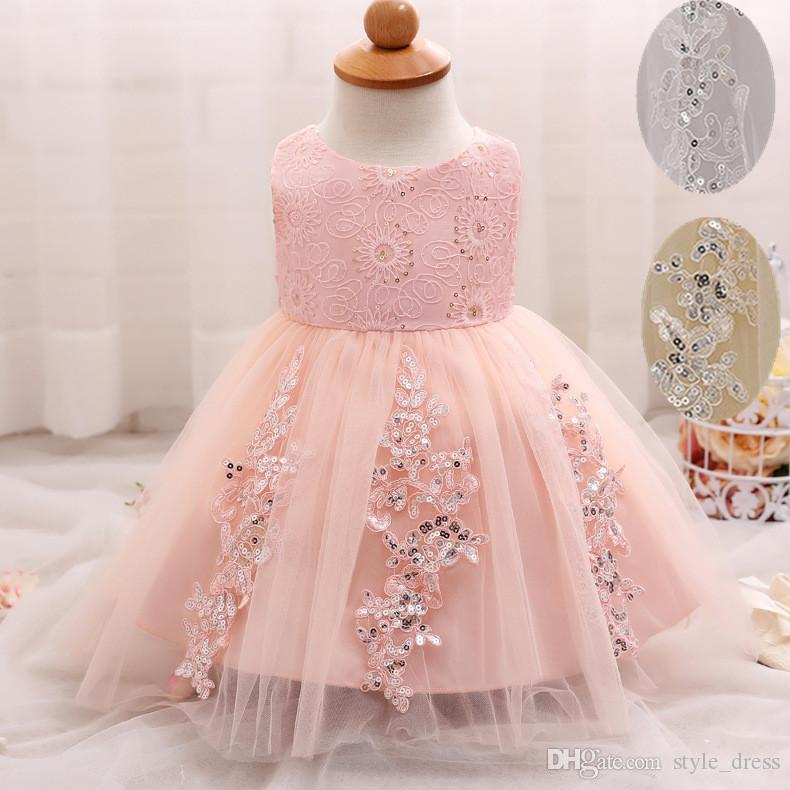 Baby Summer Frock Designs Toddler Tutu 1 Year Birthday Gowns Lace ...