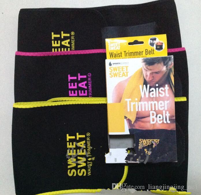 ba21d9196bb Sweet Sweat Premium Waist Trimmer Men Women Belt Slimmer Exercise Wrap Lose  Weight Trainer Belts KKA1290 Sauna Slim Belt For Weight Loss Slimming Belt  For ...