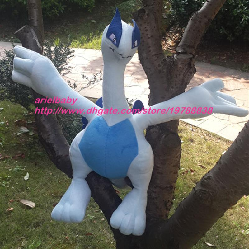 New Lugia Plush Toy 55cm Fluffy Animal Baby Dolls Kids Birthday Gift Big Size Peluche Juguetes Brinquedos Doll Online With