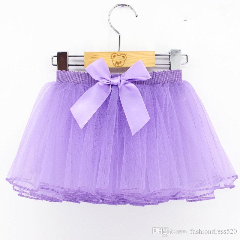 Le ragazze di colori 6 bordano la principessa la bella gonna del tutu lanuginoso 2-10Y bambini pettiskirt colore della caramella ragazze corte che ballano pannello esterno