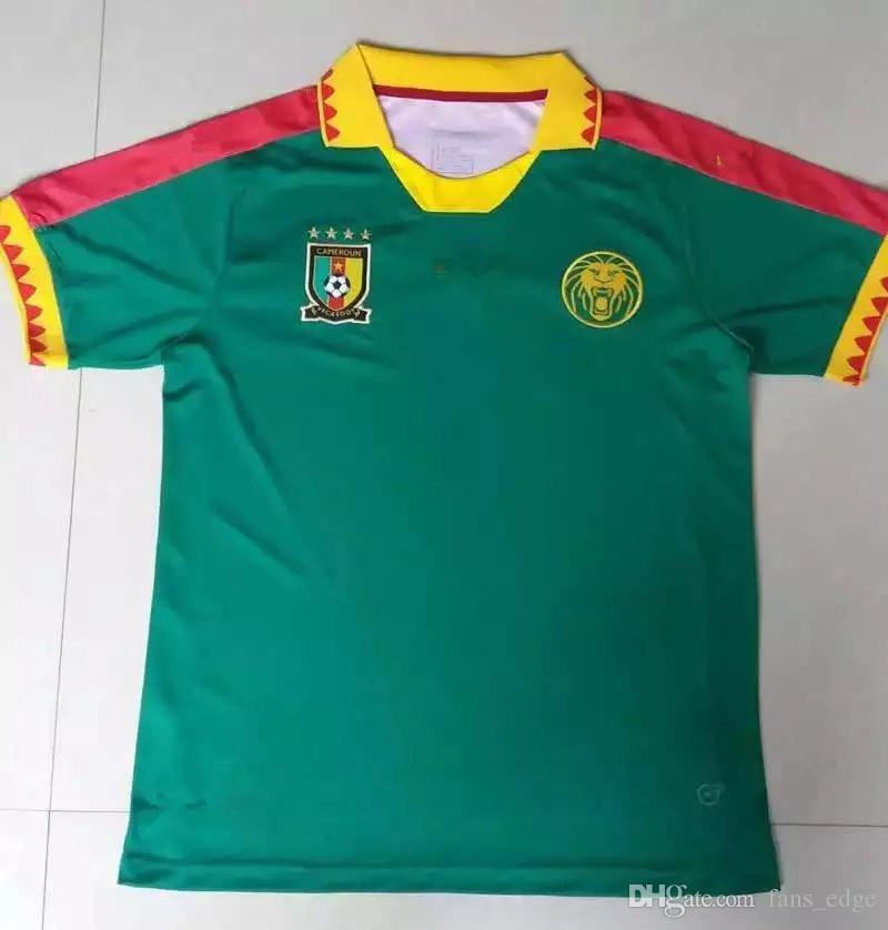 d96003fae ... Cameroon National Team Soccer Jerseys Customized Personalized Any Name  And Number Home Green Custom Football Shirts 2016-2017 ...