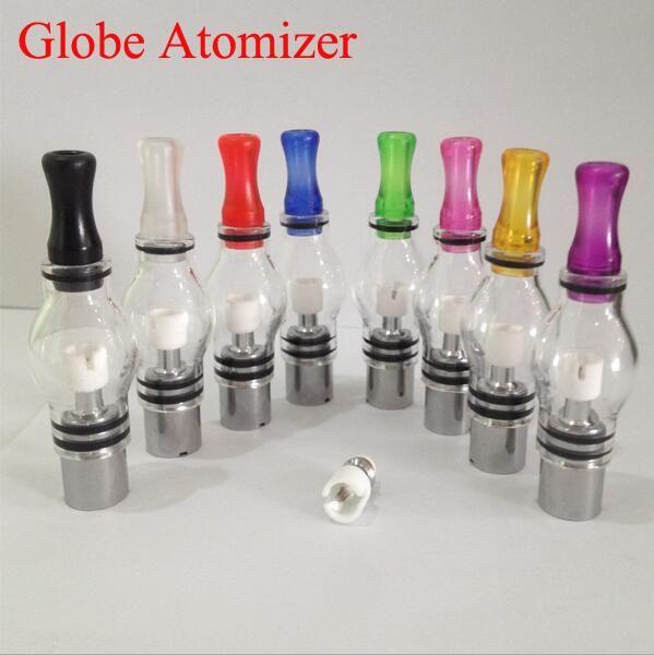 Glass globe atomizer pyrex glass tank Wax dry herb vaporizer pen vapor cigarettes electronic cigarette glass atomizer glassomizer for ego