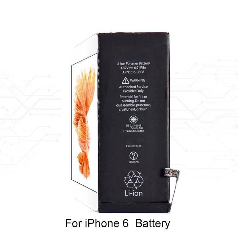 Batteria al litio integrata telefono cellulare originale iPhone 4 4s 5 5s 5c Batteria interna di ricambio iPhone 6 6s 7 7 plus 8 +
