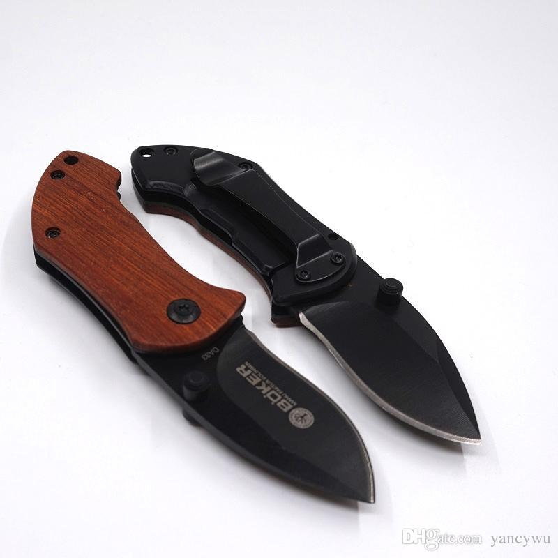 DA33 Pocket Coltello a Lama Pieghevole EDC Mini Pocket Knife Manico In Legno Coltelli Da Campeggio Di Sopravvivenza Con Clip Indietro Escursionismo Strumenti Migliore Regalo