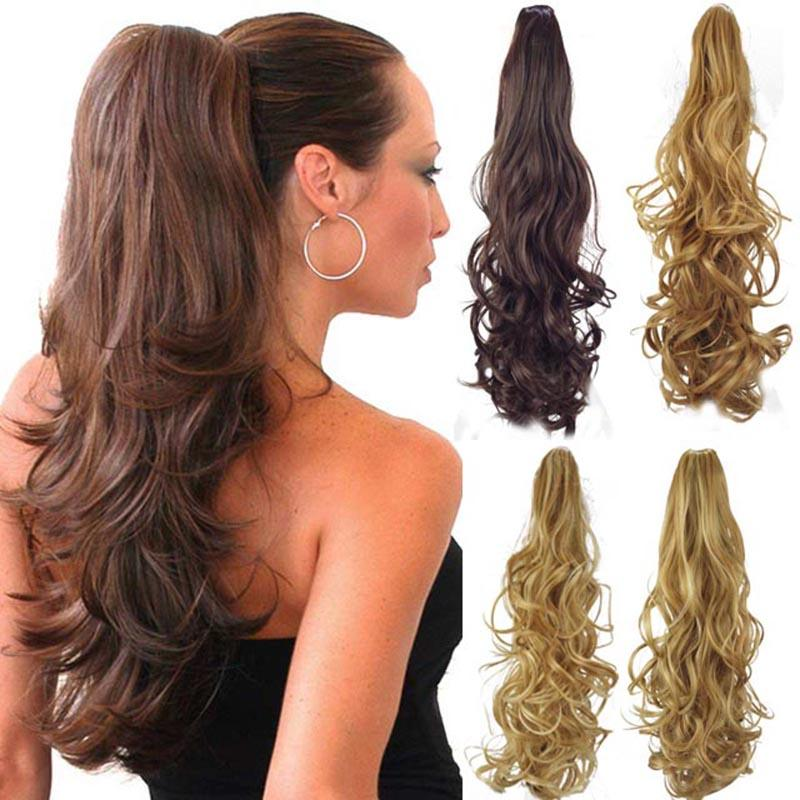Wholesale Synthetic Ponytail Long Curly Claw Drawstring Ponytails