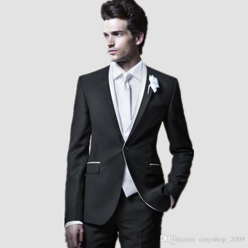 Elegant Style Men suits Dinner Party Prom Suits tailor made Groom Tuxedos Groomsmen Wedding Suits Jacket+Pants+Vest