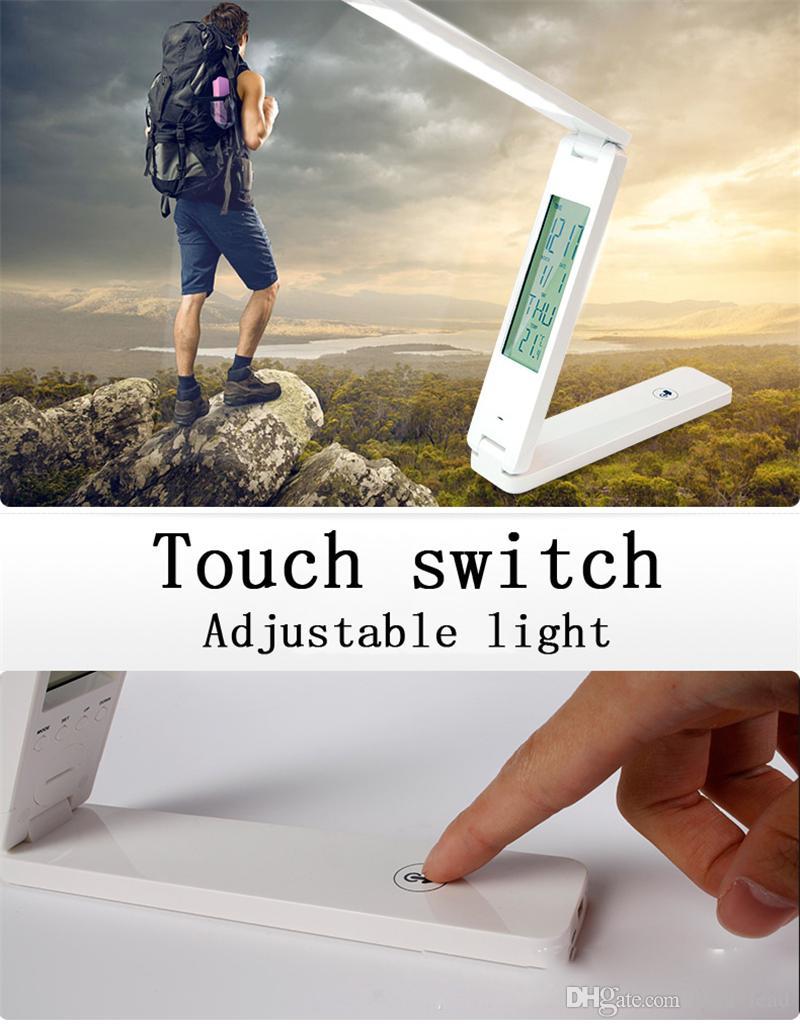 Moderne Simple Solaire LED Salle D'étude Lampe De Bureau USB Rechargeable Protection Des Yeux Table Lumière Chambre Pliante Portable Lampe De Table