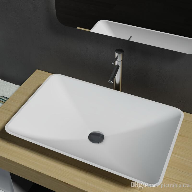 2018 Bathroom Furniture Acrylic Resin Stone Solid Surface Stone Table Top  Counter Top Basin Pb2104 From Pietrabianca, $440.21 | Dhgate.Com