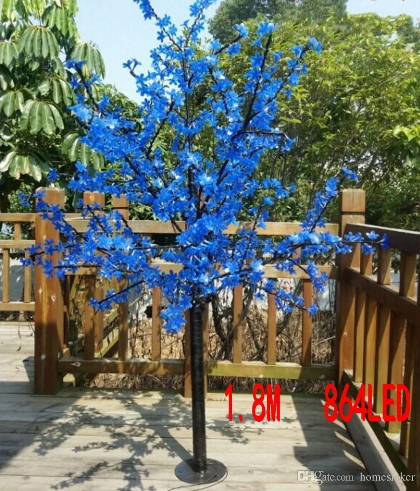 LED à prova d 'água ao ar livre paisagem jardim lâmpada da árvore de pêssego simulação 1.8 metros 864 luzes LED cherry blossom tree lights decoração do jardim