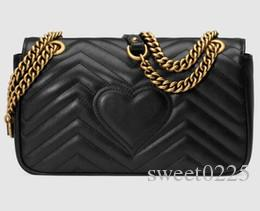 .Classic Leather black gold silver chain hot sell 2017 new women bags handbags shoulder bags tote bags messenger #78