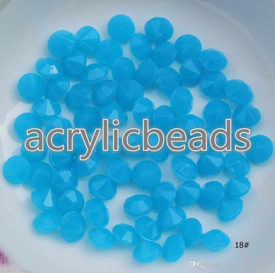 High Quality Acrylic 5MM Large Opaque Rainbow Plastic Faceted Diamond Beads DIY for Wedding Vase Decorations