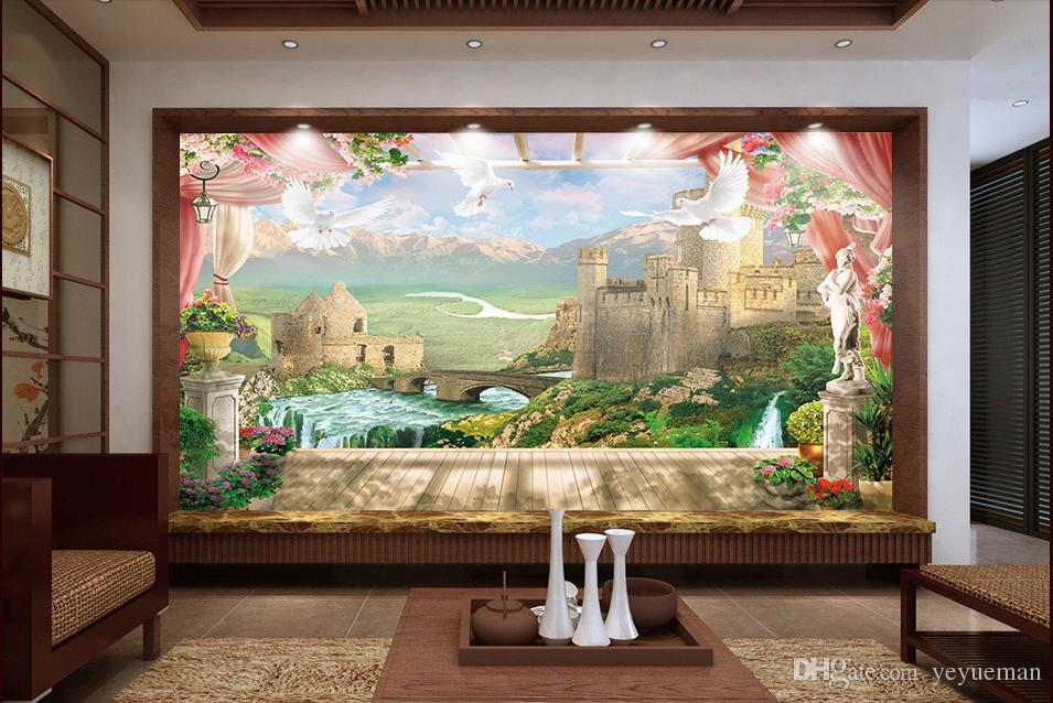 Custom 3d Photo Wall Mural Hd Pigeon Windows Stereoscopic Wallpaper For Living Room Images Of Wallpapers On From Yeyueman
