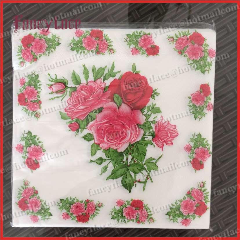 Discount wholesale rose paper napkin flower festive party tissue discount wholesale rose paper napkin flower festive party tissue napkins decoupage decoration paper from china dhgate mightylinksfo